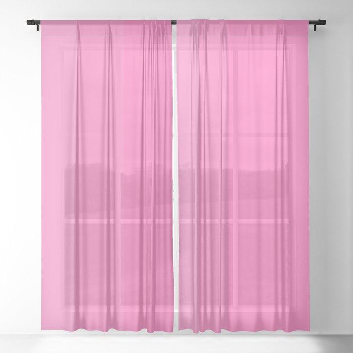 Pink Ombré Sheer Curtain