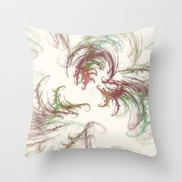 Harvest Winds Fractal Throw Pillow