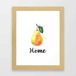 Pear. Home Framed Art Print