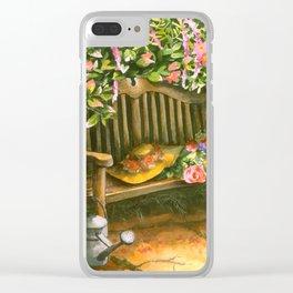 Garden Bench Clear iPhone Case