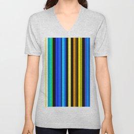 Green yellow and black stripes Unisex V-Neck