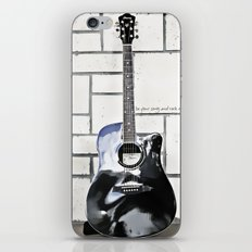 Be Your Song and Rock On in White iPhone & iPod Skin