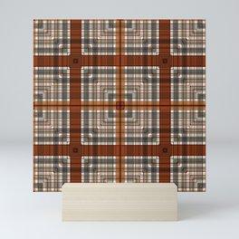 Multi Square Tile Pattern Design Mini Art Print