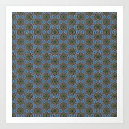 Embroidered Kaleidoscope - Stars Art Print