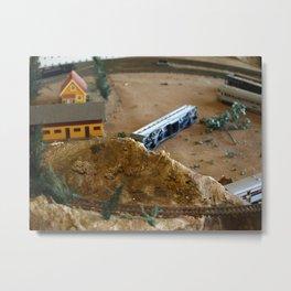 Train Wreck Metal Print