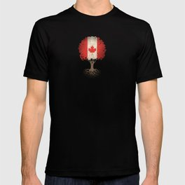 Vintage Tree of Life with Flag of Canada T-shirt