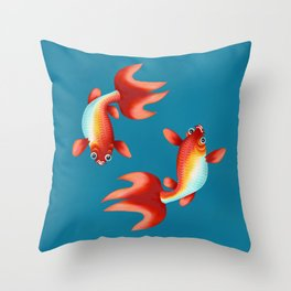 Koi fish I Throw Pillow