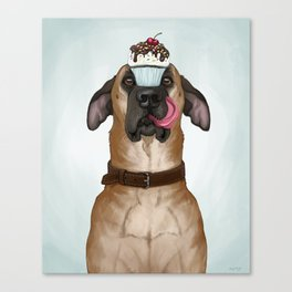 A Well-Trained Dog Canvas Print