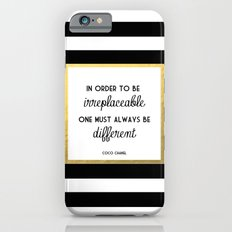 Coco Gold Irreplaceable Fashion Quote iPhone 6 Slim Case
