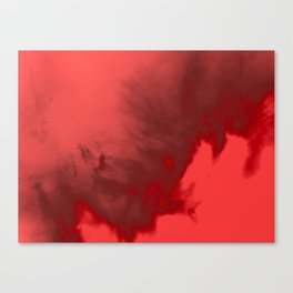 Red Water Vapor Canvas Print