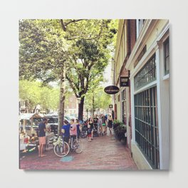 Main Street Nantucket Metal Print