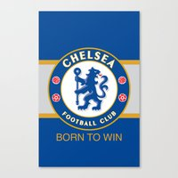 chelsea Canvas Prints featuring Chelsea by DeBUM