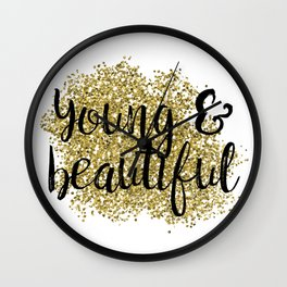 Young & beautiful - golden jazz Wall Clock