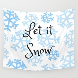 Let it Snow Snowflakes Wall Tapestry