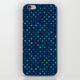 LOTS OF DOTS / prussian blue / turquoise green / deep red / yellow iPhone Skin