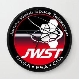 James Webb Space Telescope Program Logo Wall Clock