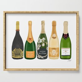 Champagne Bottles Serving Tray