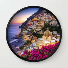 Positano Amalfi Coast Wall Clock