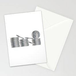 30 Pieces Of SIlver Stationery Cards