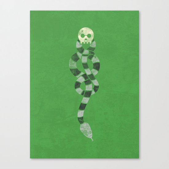 The Scarf Mark - Green and Black Canvas Print