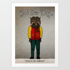 bad hair day no:5 / Thriller Art Print
