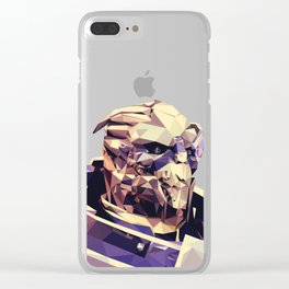 Facets of Garrus Clear iPhone Case