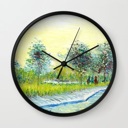 St. Pierre Square at Sunset by Vincent Van Gogh Wall Clock