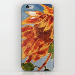 Turns to the wind sunflower | Tourne-au-vent iPhone Skin