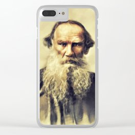 Leo Tolstoy, Litrary Legend Clear iPhone Case