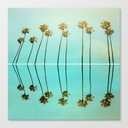 Palm Reflections Canvas Print
