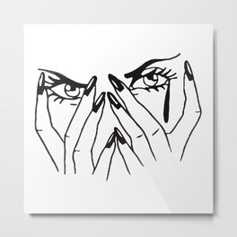 Woman's eyes Metal Print