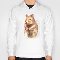 hamster Hoodies featuring hamster by dace k