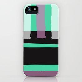 Contemporary black neo green mauve pink geometric iPhone Case