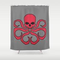 hydra Shower Curtains featuring Hydra by Beastie Toyz