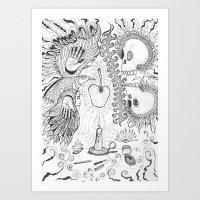 Apple Carver Art Print