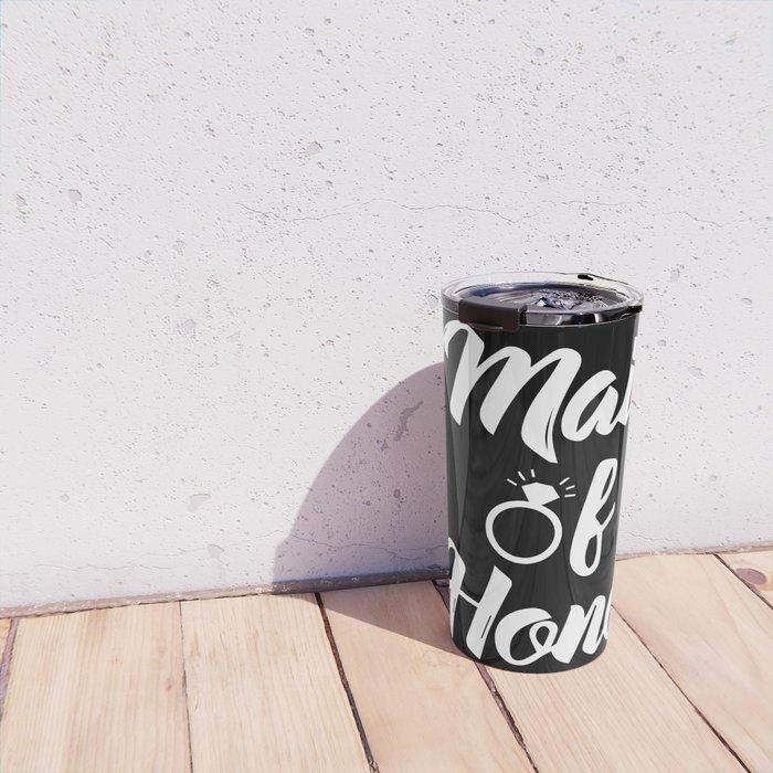 Baesic Maid of Honor (Black & White) Travel Mug