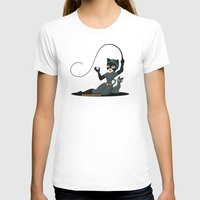 catwoman T-shirts featuring Catwoman  by Katie Simpson a.k.a. Redhead-K