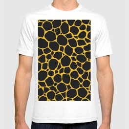 Mustard Yellow Black Turtle Shell T-shirt