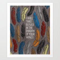 Psalm 57 Art Print