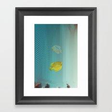 Under da glitch PT.2: A story of loss Framed Art Print