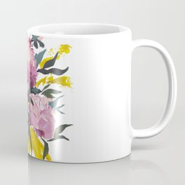pivoine violette avec jaune Coffee Mug