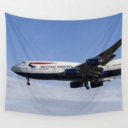 British Airways Boeing 747 Wall Tapestry