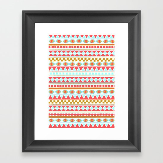 NAVAJO PATTERN Framed Art Print