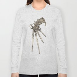 Scissorhands (Sepia-L) Long Sleeve T-shirt