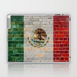 Mexico flag on a brick wall Laptop & iPad Skin
