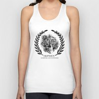 ohm Tank Tops featuring Screwed and tattooed Ohm Skull by Kristy Patterson Design