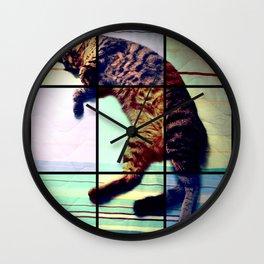 Cat (mosaico) Wall Clock