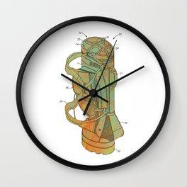 Golf Bag Patent Wall Clock