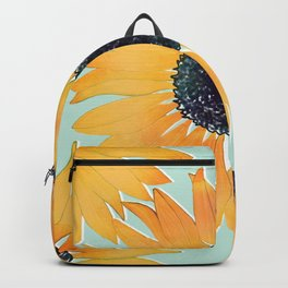 Pretty Hand Drawn Yellow Sunflowers Paint Pattern Backpack