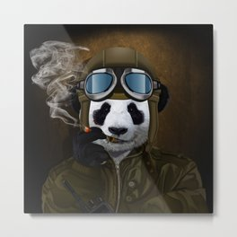 PANDA PILOT iPhone 4 4s 5 5c 6 7, pillow case, mugs and tshirt Metal Print